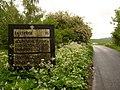 Ramsbury - old road sign at Knighton - geograph.org.uk - 1895382.jpg