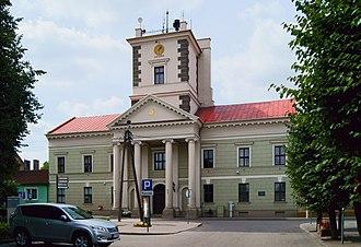 Brześć Kujawski - Town hall designed by Enrico Marconi