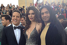 Raul Gonzales, Ana Patricia González and Anand Bhatt at the 2012 Latin Grammys.jpg