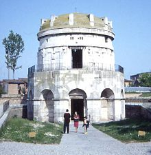 The Mausoleum of Theodoric in Ravenna.