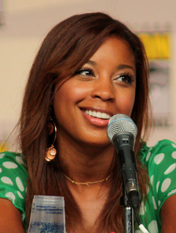 Reagan Gomez-Preston at the 2009 Comic Con in ...