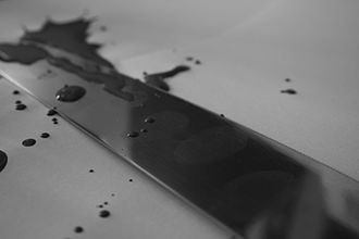 Fingerprint - Barely visible latent prints on a knife