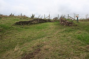 Eddisbury hill fort - The reconstructed eastern gateway
