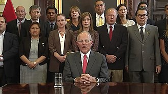 Peruvians for Change - Pedro Pablo Kuczynski, leader of the faction, resigns.