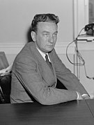 Rep. Charles A. Halleck of Ind., member of the Committee investigating the Nat'l Labor Relations Board, Sept. 1939 LCCN2016876179 (cropped).jpg
