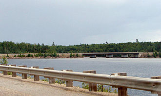 Quebec Route 117 - Highway 117 at the Dozois Reservoir.