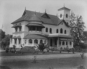 Thevally Palace - Thevally Palace circa 1900