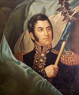 José de San Martín - 1820s painting