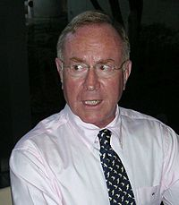 Richard Rhodes at a book signing in Atlanta, Georgia, in 2004