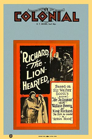 Richard the Lion-Hearted (1923 film) - Image: Richard the Lion Hearted Film Poster