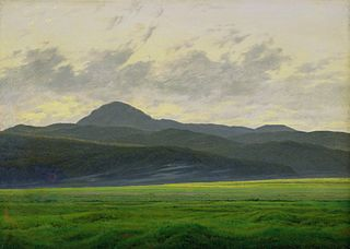 Mountain landscape in Bohemia