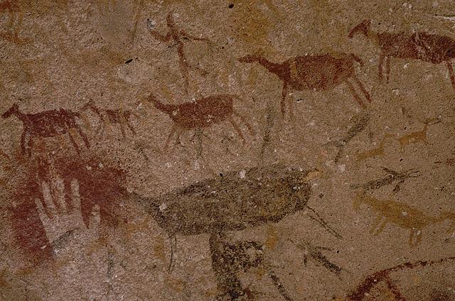 Höhlenmalereien in der Cueva de las Manos, Río Pinturas, Argentinien