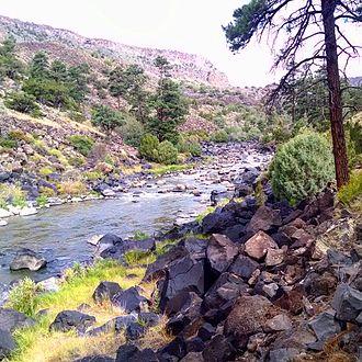 Questa, New Mexico - The Rio Grande in the Rio Grande del Norte National Monument