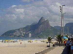 Granite dome - Image: Rio de Janeiro Ipanema Beach