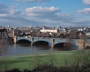 River Trent - Trent Bridge, with Nottingham in the background
