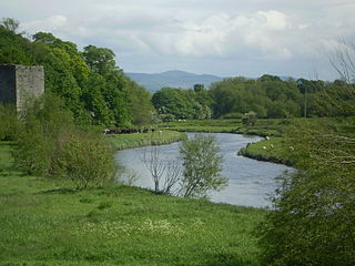 River Clwyd river in North Wales, United Kingdom