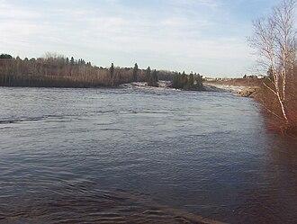 Mistassini River - Mistassini River at the City of Dolbeau-Mistassini