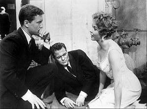 77 Sunset Strip - Roger Smith with guest stars Biff Elliot and Maureen Leeds, 1961