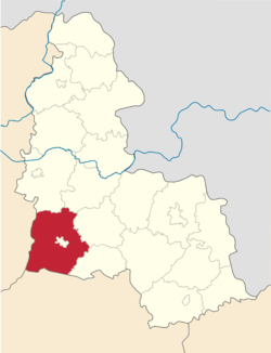 Raion location in Sumy Oblast