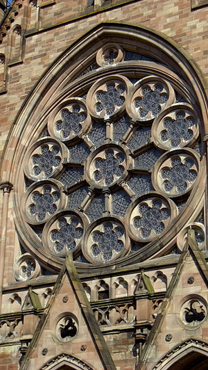 St. Paul's Church (Strasbourg) - Image: Rose window of Eglise Saint Paul de Strasbourg