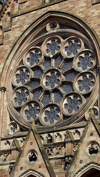 St. Paul's Church (Strasbourg) - Image: Rose window of Eglise Saint Paul de Strasbourg