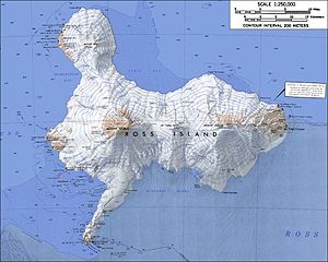 Mount Erebus - Image: Ross Island Map