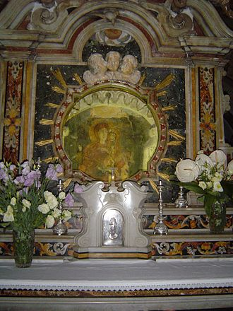 Rossano - The image of Maria Achiropita in the Cathedral.