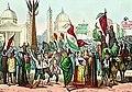 Rossetti - Proclamazione della Repubblica Romana, nel 1849, in Piazza del Popolo - 1861.jpg