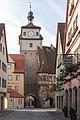 Rothenburg ob der Tauber, Stadtbefestigung, Weißer Turm, Feldseite-20160108-001.jpg