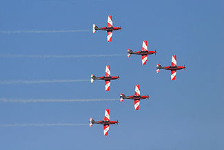 Roulettes aerobatics display at the Melbourne Grand Prix