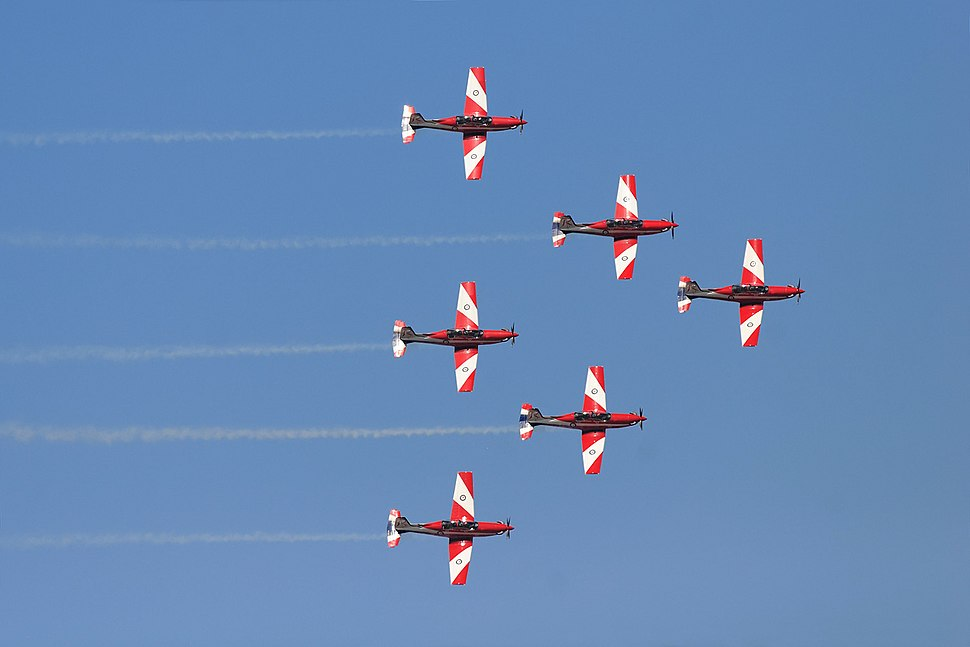 Roulettes flying in formation