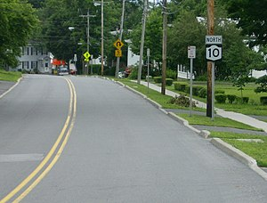 New York State Route 10 - In Canajoharie, NY 10 descends a steep elevation using streets to form a switchback