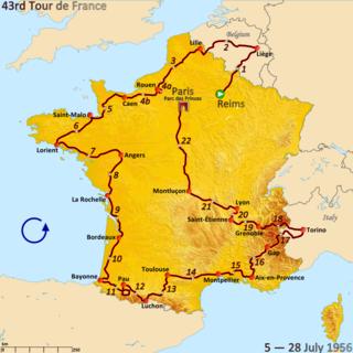 1956 Tour de France cycling race