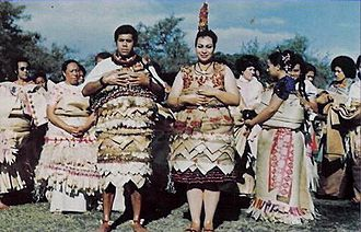 Salote Mafileʻo Pilolevu Tuita - Princess Salote Pilolevu and The Hon. Siosa'ia Ma'ulupekotofa Tuita on their wedding day in 1976