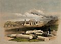Ruins of Erment, ancient Hermontis, Egypt. Coloured lithogra Wellcome V0049357.jpg