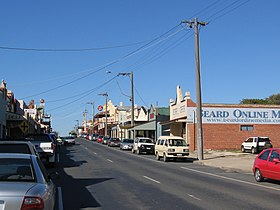 Murray Valley Highway in Rutherglen