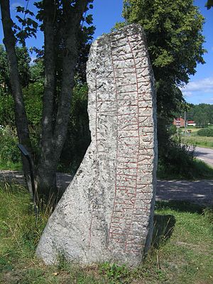 Runestones at Aspa - Side B of Sö 137.