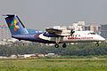 S2-AES Bombardier Dash 8-102A United Airways Landing (8305296677).jpg