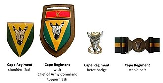 Cape Corps - SADF era Cape Regiment insignia circa 1980s