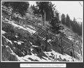 SBB Historic - F 115 00004 063 - Calcestri Airolo - Piotta, Schneebrücken, Schneewände, Pfähle.tiff