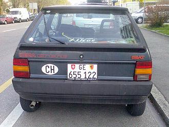 SEAT Ibiza - SEAT Ibiza Mk1 pre-facelift, rear view