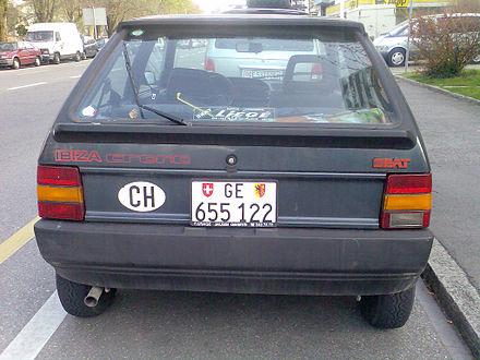 Seat Ibiza Mk1 Pre Facelift Rear View