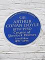SIR ARTHUR CONAN DOYLE 1859-1930 Creator of Sherlock Holmes lived here 1891-1894.jpg