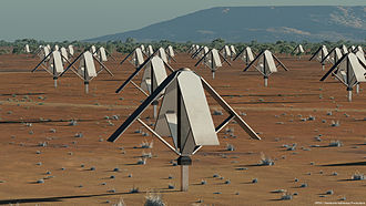 Square Kilometre Array - Artist's impression of a Low-Band SKA Sparse Aperture Array Station