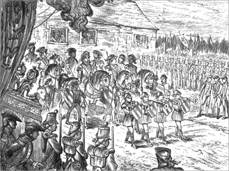 Mischianza - Procession, as depicted a century later
