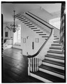 STAIRWAY FROM THE SOUTHWEST - Colony House, Washington Square, Newport, Newport County, RI HABS RI,3-NEWP,9-31.tif