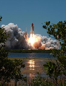 The launch of STS-121