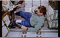 STS057-41-012 - STS-057 - Crewmember in the SPACEHAB conducting Human Factors Assessment light testing. - DPLA - 71625f6695a5e6aa923fdbfbf0f31b67.jpg
