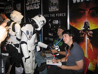 Bonnie Burton - Burton and Matt Busch signing their book You Can Draw: Star Wars for members of the German Garrison of the 501st Legion at Star Wars Celebration Europe in July 2007
