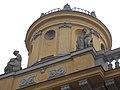 S tower, statues by Ede Telcs, Géza Maróti, 1913. Széchenyi Bath, 2015 Budapest.jpg